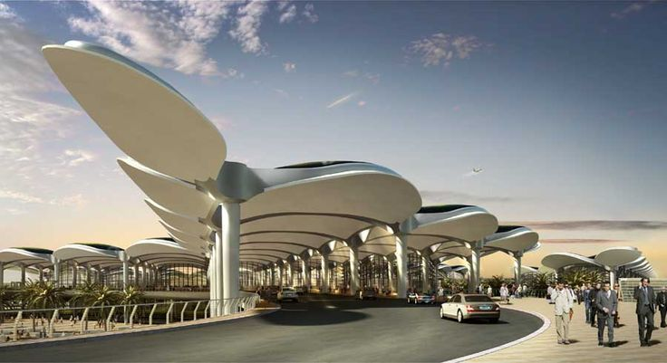 Queen Alia International Airport Amman   Contemporary Jordanian building - design by Foster + Partners