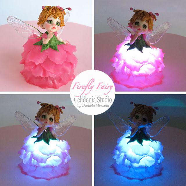 Celidonia Studio: Firefly Fairy - La Fatina Lucciola - Polymer Clay ...
