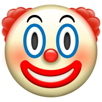 Clown Apple Emoji