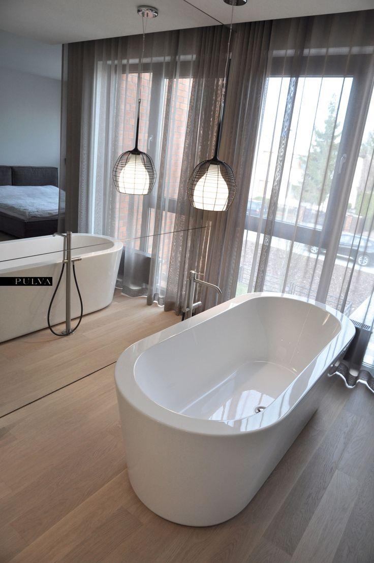 minimalistic interior, bathroom, CEA, lamp, Foscarini