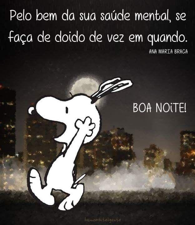 Boa Noite Frases Boa Noite Engraçadas Snoopy Boa Noite E