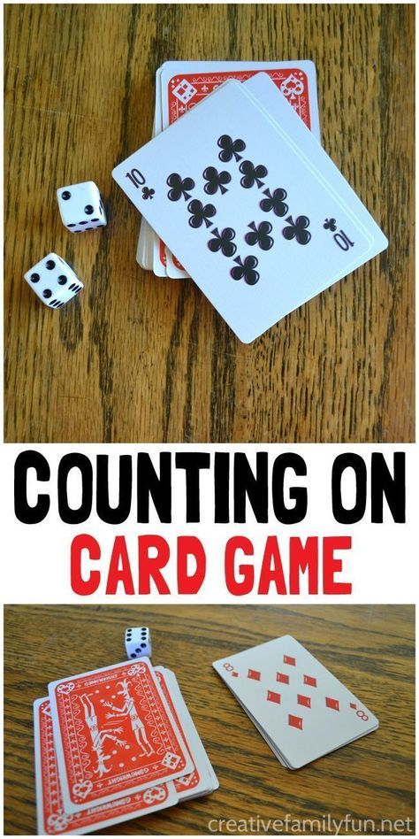 Grab a deck of cards and some dice to play this simple counting on card game. It's an easy way to practice math after school. #mathpracticegames