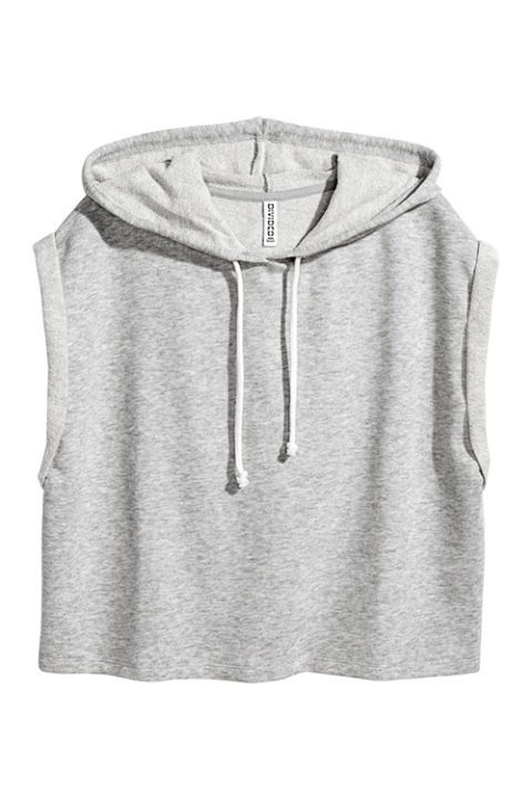 $15 BUY NOW  Ladies are loving the cropped hoodie look, but macho muscle men have been rocking that style sincethe '70s (google it!). No matter your gender, this H&M hoodie looks best when rocked with sporty bottoms. Just make sure your abs are on fleek for this one!