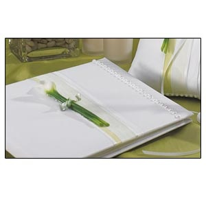Traditional Guest Book Bridal Beauty Calla Lily Collection