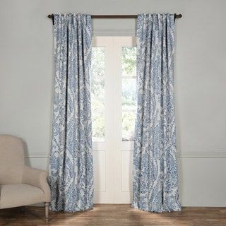 Shop for Exclusive Fabrics Tea Time China Blue Blackout Curtain Panel Pair. Get free delivery at Overstock.com - Your Online Home Decor Outlet Store! Get 5% in rewards with Club O! - 20473257