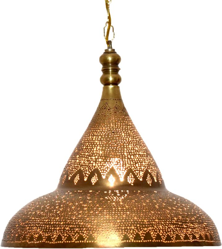 Moroccan style kitchen brass pendant light | Brass pendant