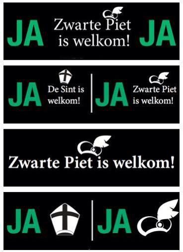 Zwarte piet is welkom brievenbus sticker #sinterklaas