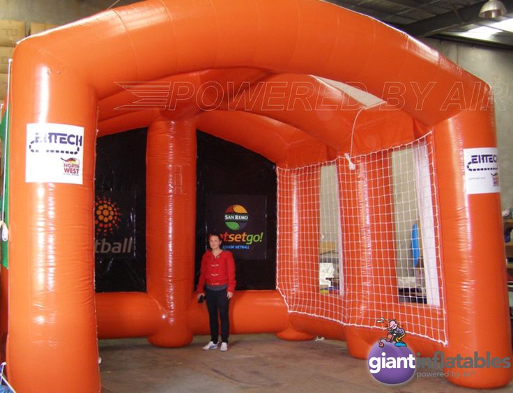 inflatable compact neball arena field with multi game sides