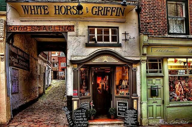 Quaint inns and lanes of Whitby in North Yorkshire