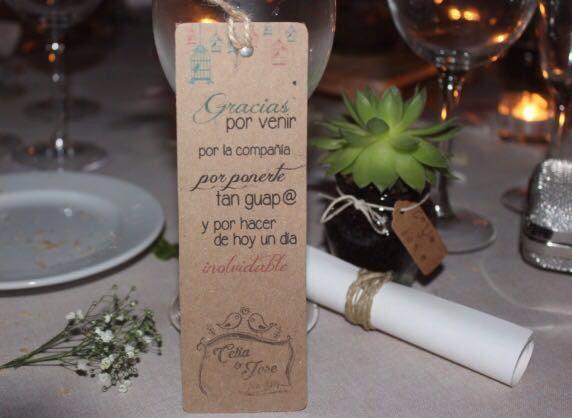tarjeta agradecimiento invitados boda