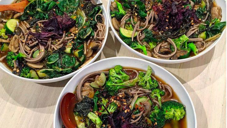 Vegan noodle soup #sproutmarket #samibloom #veganrecipeshare #vegansouprecipe