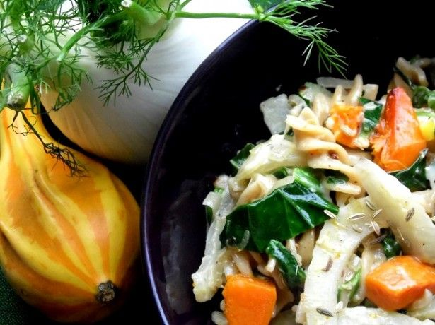 fennel and pumpkin warm salad