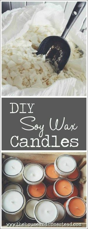 Homemade Soy Wax Candles | A step-by-step tutorial for making scented soy wax candles at home (plus troubleshooting tips for common problems).