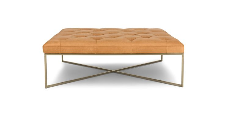 Tablet Charme Blonde Square Ottoman - Ottomans - Article | Modern, Mid-Century and Scandinavian Furniture
