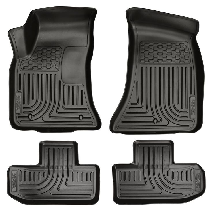 98071 Husky Liners WeatherBeater Black Front & 2nd Seat