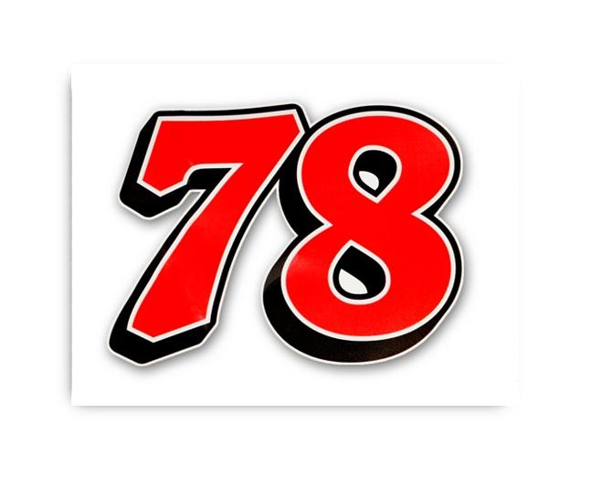 78 pride furniture row racing ultra vinyl decal has a