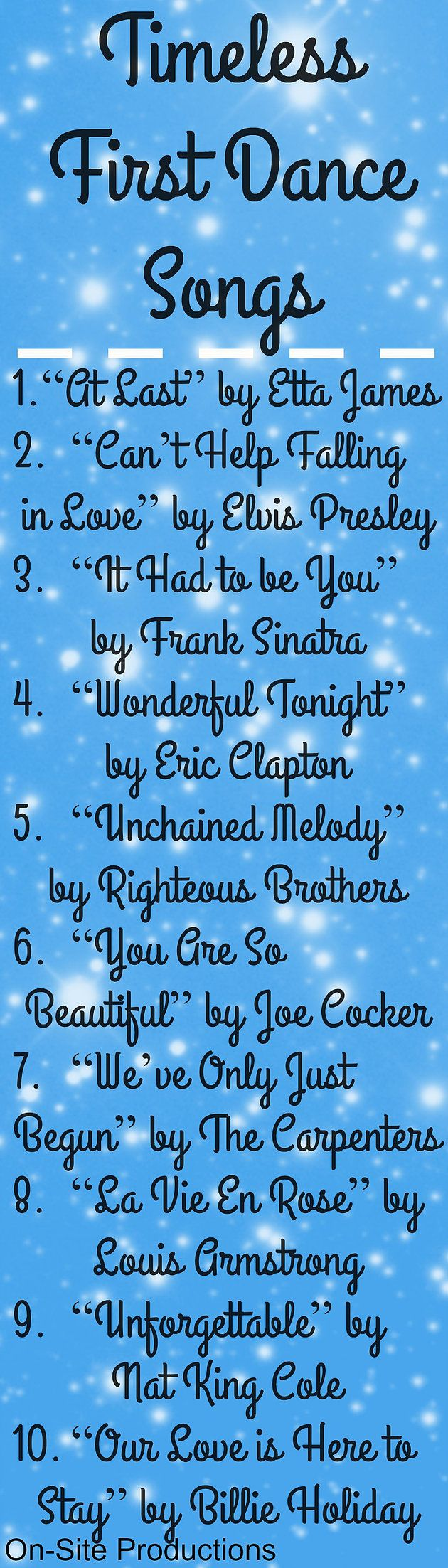 Such a beautiful playlist of CLASSIC and TIMELESS songs that are perfect for my first dance!  Plus the link to the playlist is included on the blog!  One of these songs are definitely going to be what I dance to for my first dance!