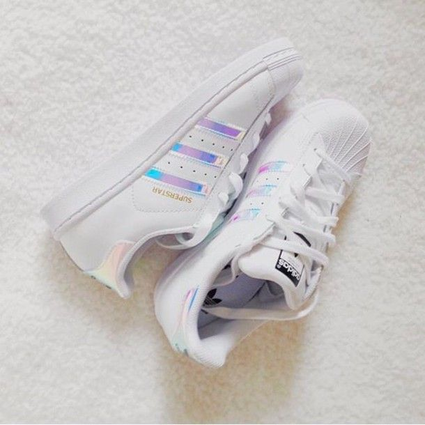bfe619ae091 shoes adidas holo holographic adidas superstars superstar white sneakers  holographic superstars pink purple blue