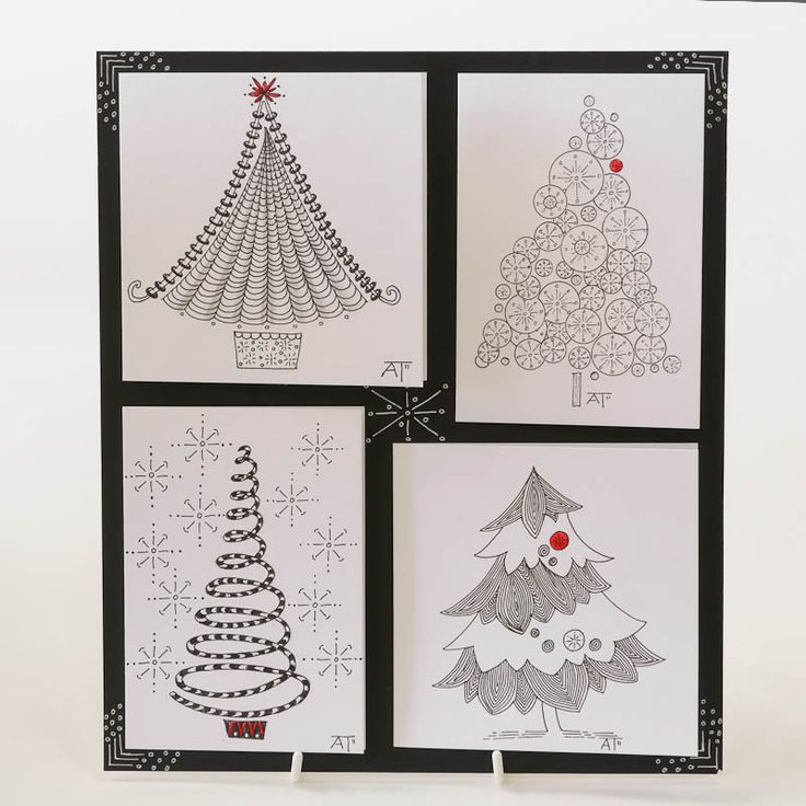 Zentangle Christmas Patterns | Sample Designs - Old Hall Crafts