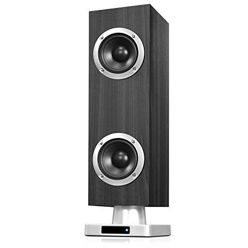 """16"""" Home Stereo Speakers Tabletop Tower Wireless Bluetooth Stereo System Gray  #InnovativeTechnology"""