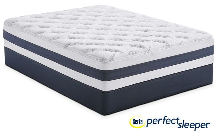 Landing Manor Plush California King Mattress And Split Low-Profile Foundation Set