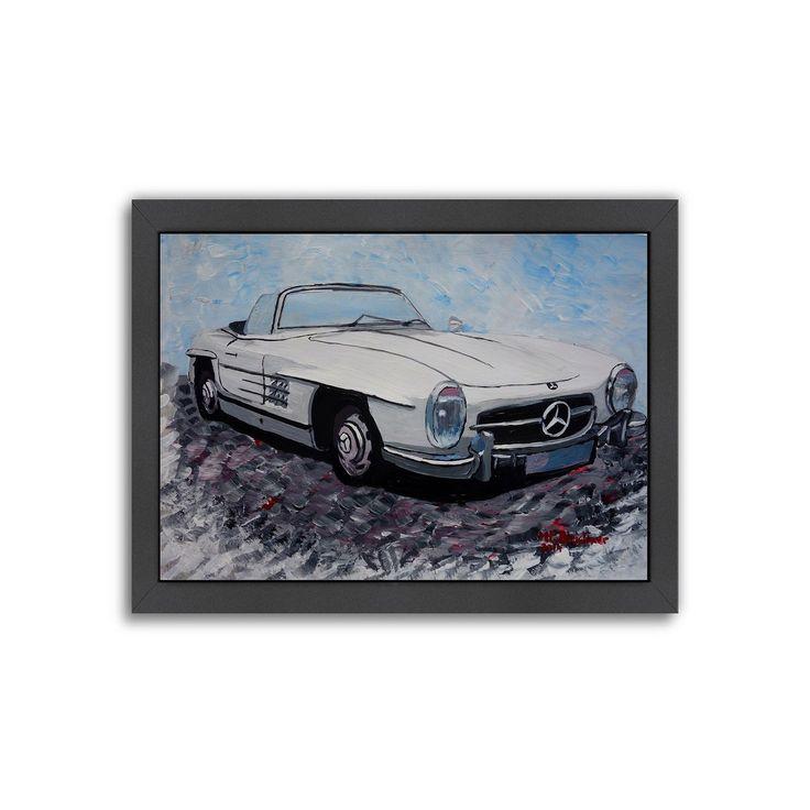 "Americanflat ""Mercedes Cabrio"" Framed Wall Art, Multicolor"