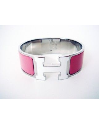 Hermes Clic Clac Bangle Bracelet Pink White Enamel Phw New wholesale,online outlet