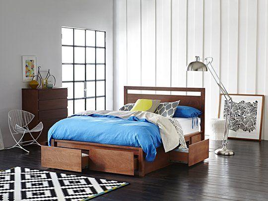 Fusion Storage Bed Frame: Queen Storage Bed (4 Drawer)