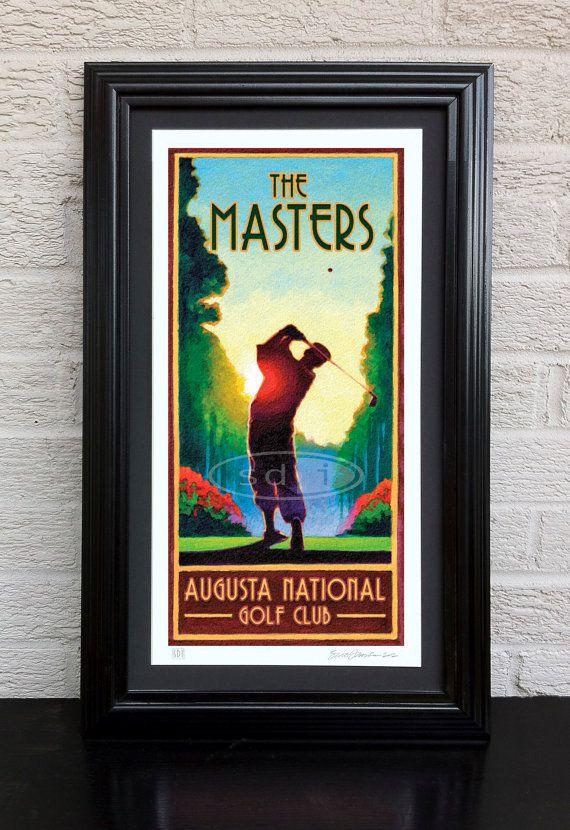 Masters Golf art sports posterprint by ScottDawsonArtPrints, $55.00