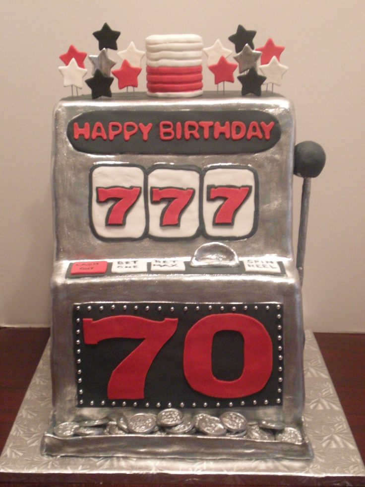 Slot Machine Cake Casino Cakes Pinterest Cakes Slot