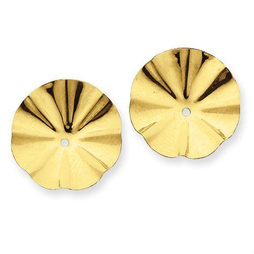 14k Polished Fancy Earring Jackets Jewelry Adviser Earrings. $92.32