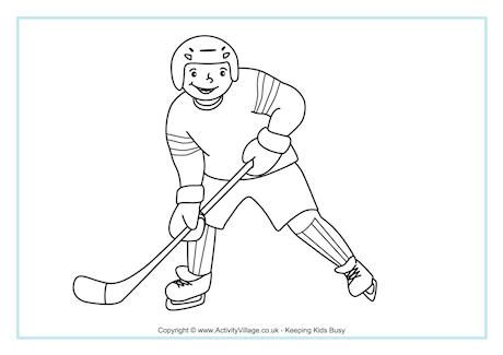 Ice Hockey Colouring Page 3