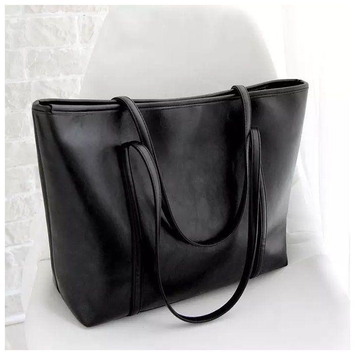 メルカリ商品: 大きい トートバッグ  ビジネスバッグ 肩掛け  レディース 黒 鞄 #メルカリ