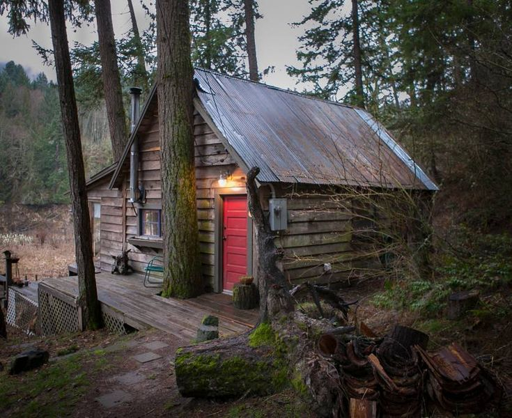 Charming River Cabin in the woods - Cabins for Rent in ...