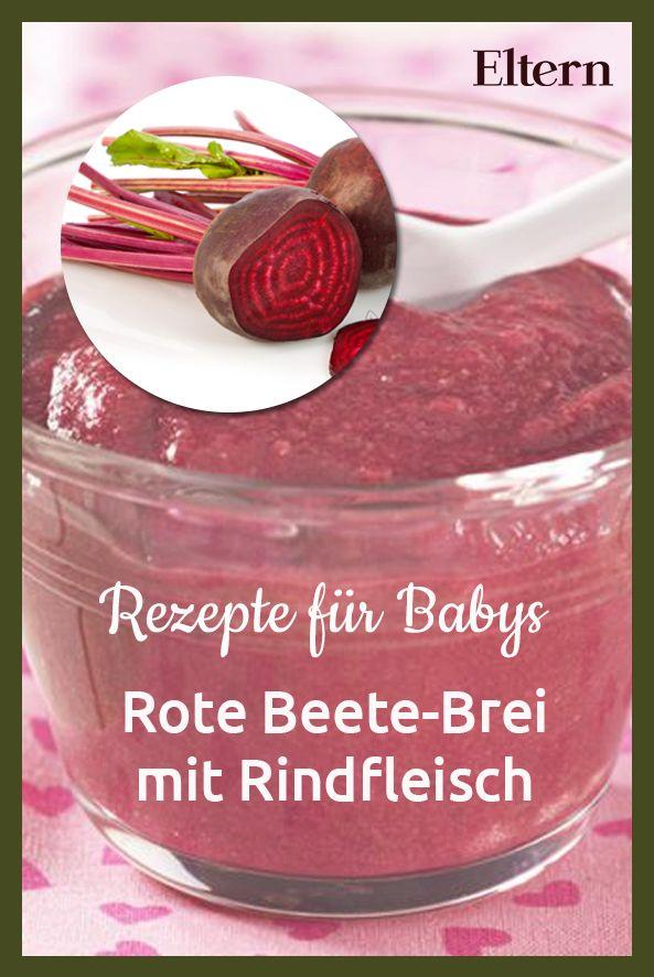 Rindfleisch und Rote Bete liefern lebenswichtiges Eisen. Es unterstützt die Blutbildung und den Transport von Sauerstoff im Blut. Das Rezept für den leckeren Brei aus Rote Beete und Rindfleisch findest Du bei uns!