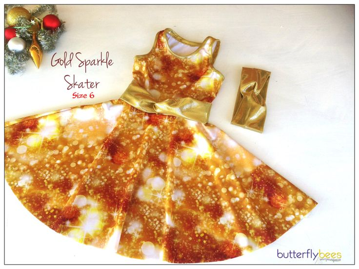 Gold Sparkle Skater Dress -Size 6   REDUCED PRICE by Butterflybees on Etsy https://www.etsy.com/listing/253141188/gold-sparkle-skater-dress-size-6-reduced