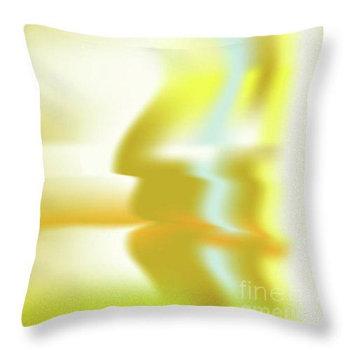 Gold Throw Pillow featuring the digital art Hominium by Ron Labryzz
