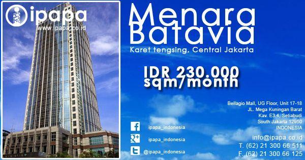 Ingin memiliki kantor di Menara Batavia? Kunjungi link berikut ini http://www.ipapa.co.id/building/detail/menara-batavia-118 #ipapa #ipapaindonesia #ipapapromotion #officespace #officerent #sewaoffice #sewakantor #officejakarta #kantorjakarta