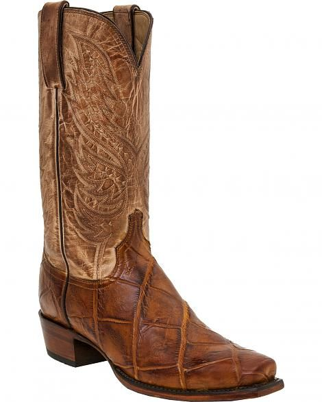 Lucchese Men's Rex Alligator Western Boots - Square Toe  - Sheplers