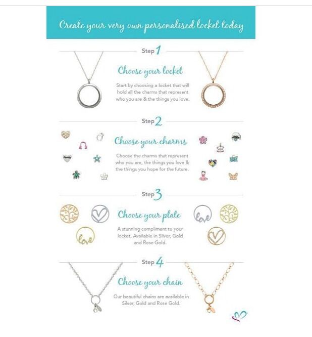 There are just 4 easy steps to creating your very own personalised Lily Anne Designs locket! www.lilyannedesigns.com.au/marianprice