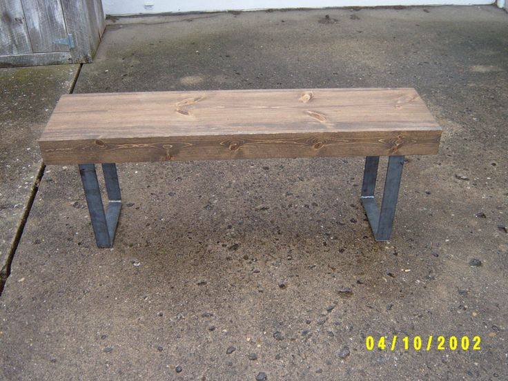 wood bench, bench, furniture, tv stand, coffee table, dining table, wood furniture, mudroom bench, hallway bench, steel legs, metal legs by wayneswoodworking on Etsy https://www.etsy.com/listing/125036738/wood-bench-bench-furniture-tv-stand
