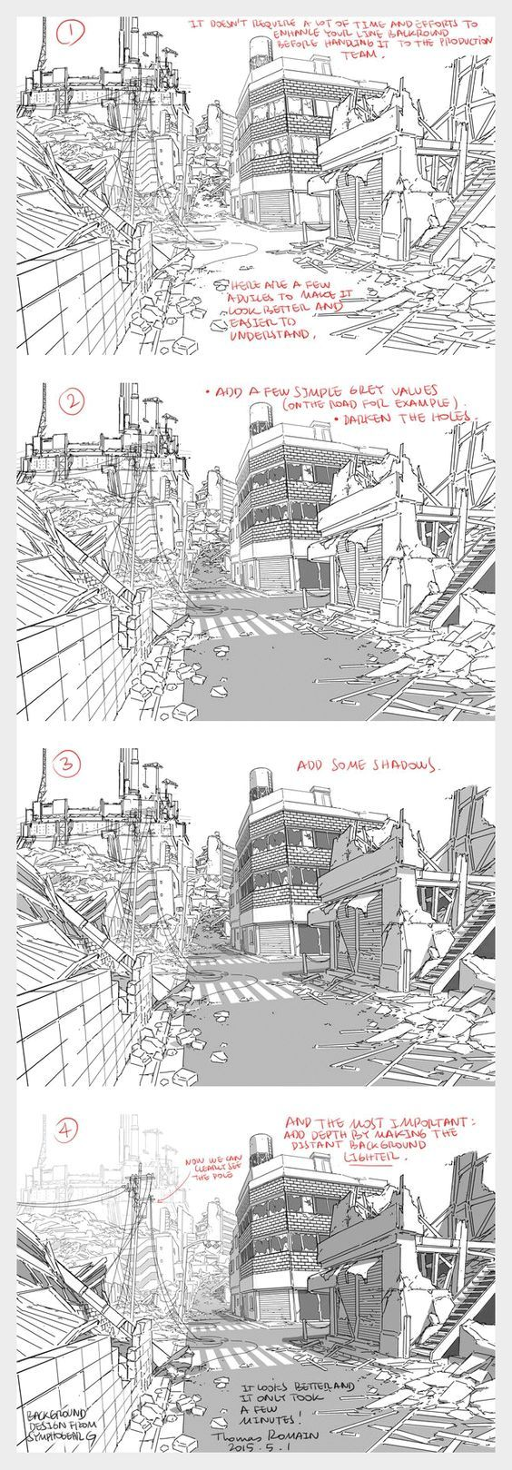 How to enhance a background - by Thomas Romain (one of the few foreigners working in the anime industry in Japan):