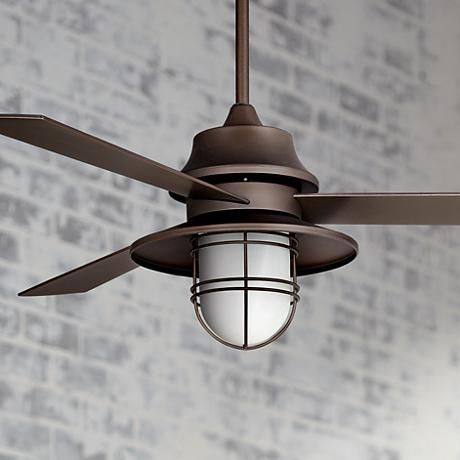 This handsome industrial style oil rubbed bronze ceiling Industrial style ceiling fans