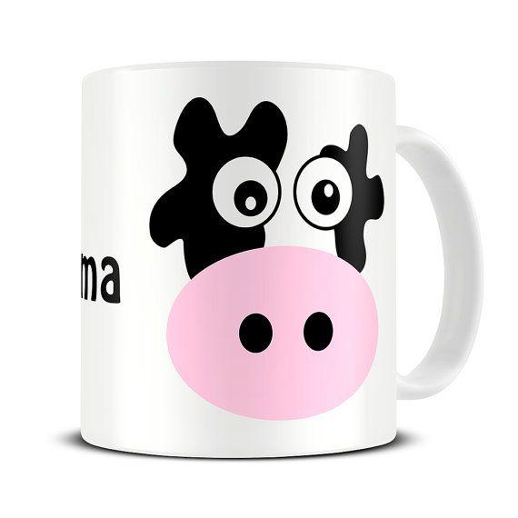 Personalised Mad Cow Coffee Mug - cow gifts - personalized mug for mom - MG088