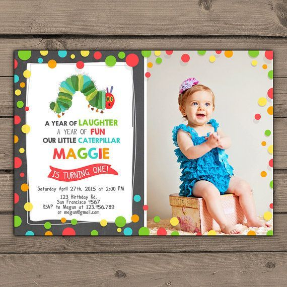 Very Hungry Caterpillar invitation Caterpillar invite With photo