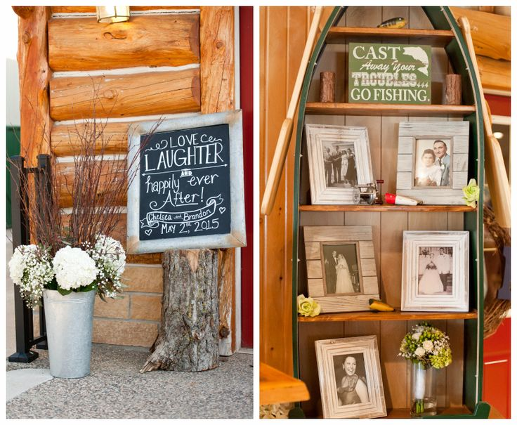 Fishing, Outdoor Wedding Theme. Chelsea & Brandon Zabel, Real Wedding, Jess & Jen Do Weddings, Mary's Flowers, Allure Bridal, Face to Face with Violett, Caribou Gun Club Banquet Hall, Le Sueur Mn, Fishing Wedding Decor