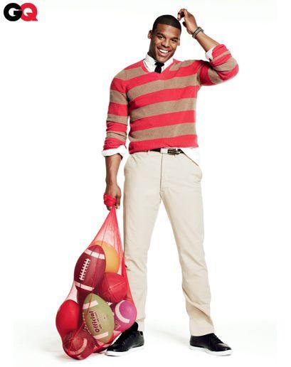 Cam Newton in Bold Striped Sweaters for Men: Wear It Now: GQ