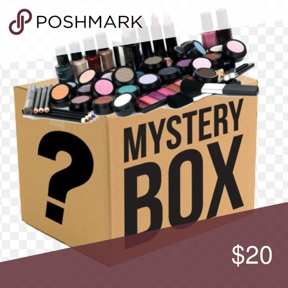 New! Make Up💄 Mystery Box You will receive 5 new unopened items from brands such as: Maybelline L'Oréal  Dove Among other brands  Items will be Make up removers Lotion cream Blush Eyeliner pencils and gel Eye shadow Eye shadow pallet Primer Lipsticks Lashes Face brushes Other makeup tools  The box will be well worth $20. Nothing will be duplicate. Makeup