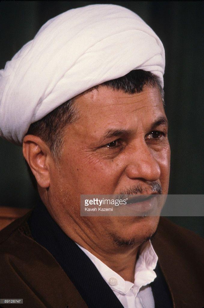 The Speaker of the Iranian parliament (Majles), Ayatollah Ali Akbar Hashemi Rafsanjani, at a press conference at the Majlis Building, Tehran, Iran, 20th April 1987.