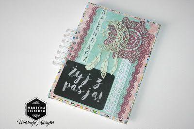 Pasja... : Kalendarz pastelowy z łapaczem snów